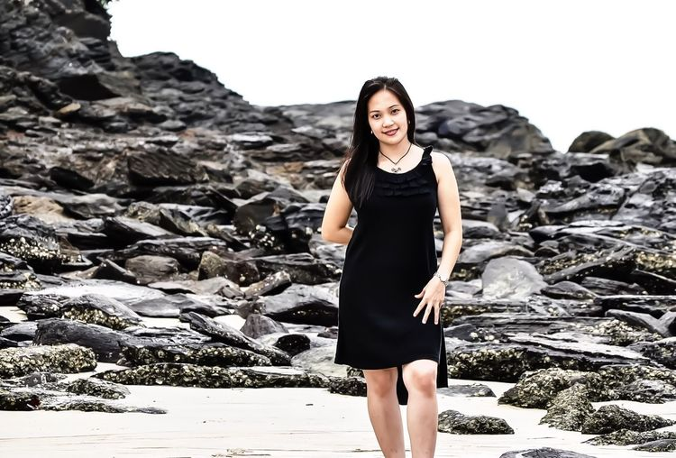 [my gf then] Walking Around At The Beach of Langkawi Malaysia Rocks Portrait Of A Woman My Queen Q Queen Miles Away One Person Black Dress Black Rocky Landscape Beach Seashore Fair Weather Beautiful Gorgeous Lovely Langkawi, Malaysia Neighborhood Map
