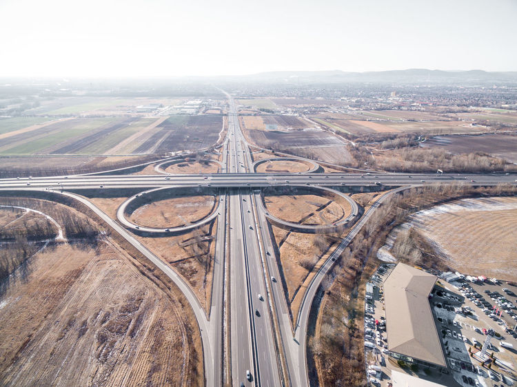 Highways&Freeways Junction Aerial View Beauty In Nature Day High Angle View Highway Highway Junction Landscape Mining Nature No People Outdoors Road Scenics Sky Transportation