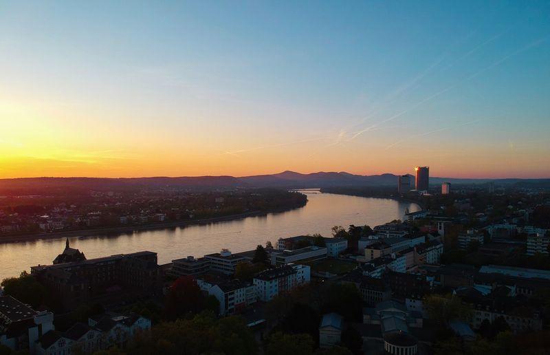 Good Morning Bonn ☀️ Sky Sunset Water Building Exterior Architecture City Built Structure Nature Cityscape