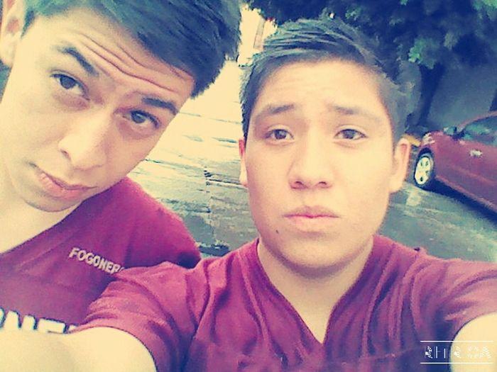 Día hermoso con mi amigo :')