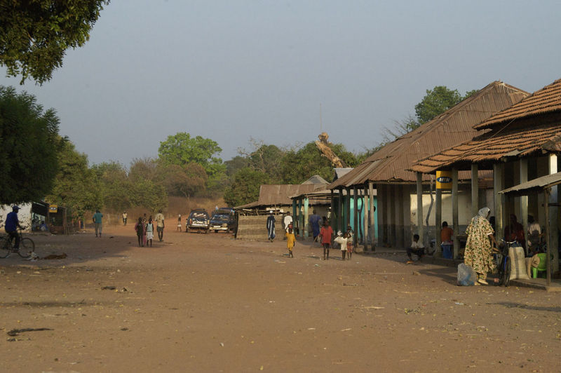 Border between Guinea-Bissau and Guinea Conacry at Burumtuma BorderTown Guinea Guinea-Bissau Republic Of Guinea-Bissau República Da Guiné-Bissau Road West Africa Africa African Border African Road Border Borderpost Day Dirt Road Outdoors