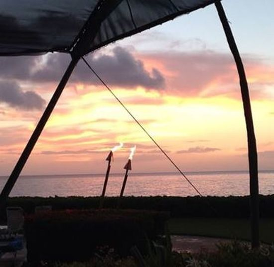 Hawaii Maui Torchlight Beach Cloud - Sky Dramatic Sky Horizon Horizon Over Water Orange Color Outdoors Scenics - Nature Sea Sky Sun Sunset Torches Tranquility Water