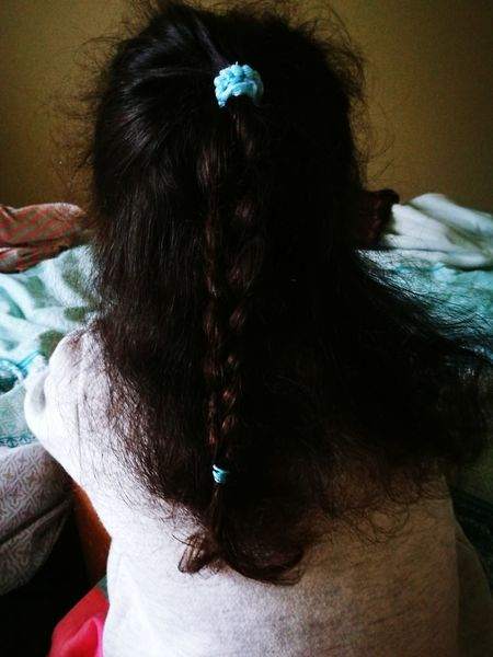 Just a very random photo to start off with Hairstyle Black Hair Rear View Close-up Human Hair Long Hair One Person Hair Color People Indoors  Human Body Part Human Back Adult Child Back Women Braided Combing Hair Care Children Only First Eyeem Photo