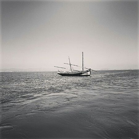 Boat Culatra Algarve Olhao Sea Nautical Vessel Sailing Horizon Over Water