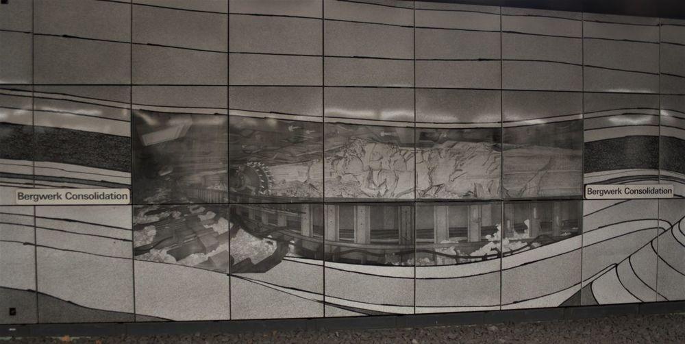 U-Bahnhof Bergwerk Consolidation Kohleabbau