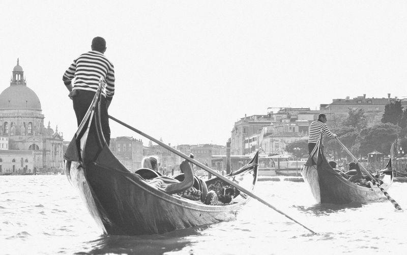 Gondola - Traditional Boat Travel Destinations Travel Photography OpenEdit Eye4photography  Travel Photos Nikon Italy Italy❤️ Venezia Venice Gondolier Tourism Venice, Italy Famous Place Italy🇮🇹 Blackandwhite Black & White Black And White Let's Go. Together.