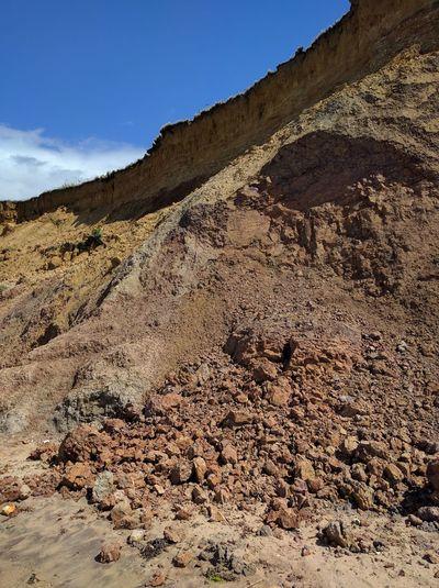 Soft Cliff Coast Collapsed Fall Mass Movement Rockfall Rocks