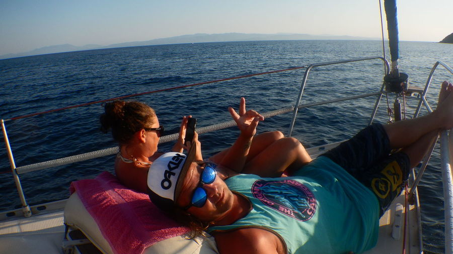 Greece Skiathos Sailboat Inlove♥ Mygirlfriend Relaxing Moments Oakely Santacruz LNG