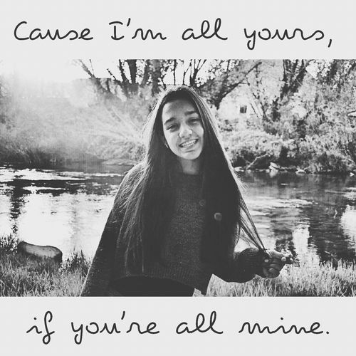 cause I'm all yours, if you are all mine.People Watching Walking Around That's Me Taking Photos