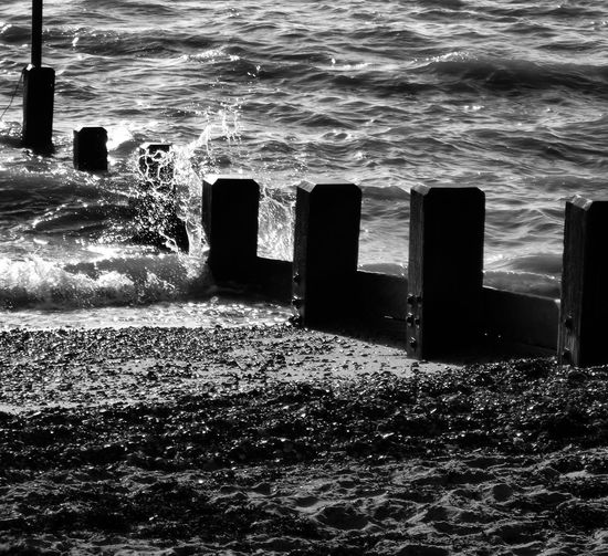 Southend seafront. Water Sea Wave Nature No People Southend On Sea Southend Groyne Seaside Seafront British Seaside Splash Tide