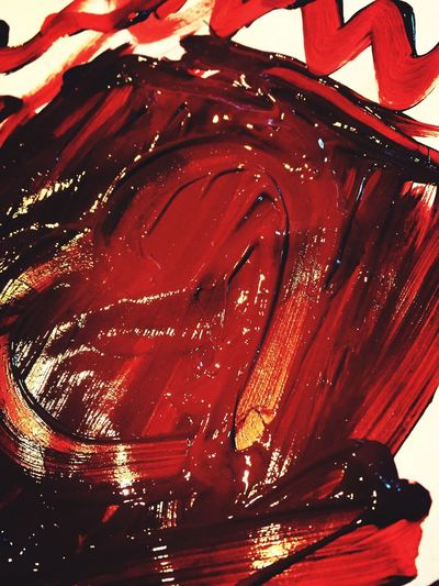 Red Paint - Finger Painting - Textures - Crafts Fun Creativity Red Red Paint Painting Crafts Fun Textures And Surfaces Finger Painting Wet Paint Creativity Entertainment Activity