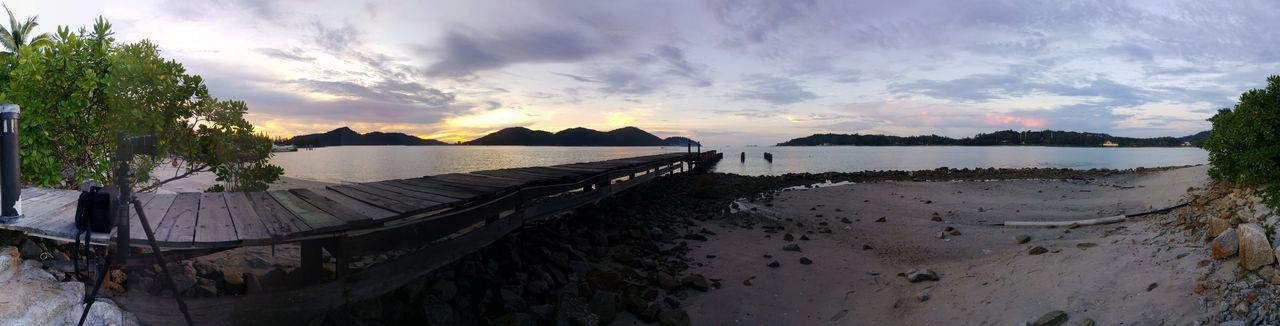 Behind the screen... The making of sunset timelapse Behindthescenes Timelapse Beach Jetty Island Panorama Pangkor