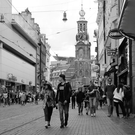 Amsterdam, 2017. Amsterdam Netherlands Nederland City Cityscape People City Street Travel The Netherlands Amsterdam City Black&white Bw Photography Bw_collections
