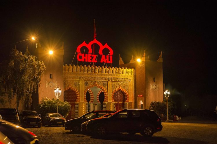 A place to visit when in Marrakech EyeEm Best Shots EyeEm Gallery EyeEm Night Shots EyeEmBestPics Night Lights Nightphotography Tourist Attraction  Chez Ali Eye4photography  Marrakech Marrakech Morocco Travel Destinations Vehicle