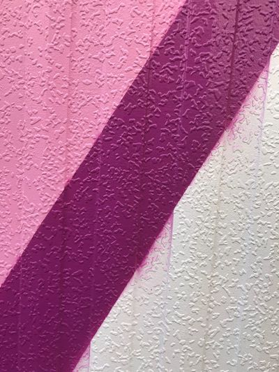 pink and white paint stripes Copy Space White Pink Wall - Building Feature Textured  Pink Color Built Structure Day Full Frame No People Pattern Backgrounds Close-up Wall Art And Craft Outdoors Building Exterior