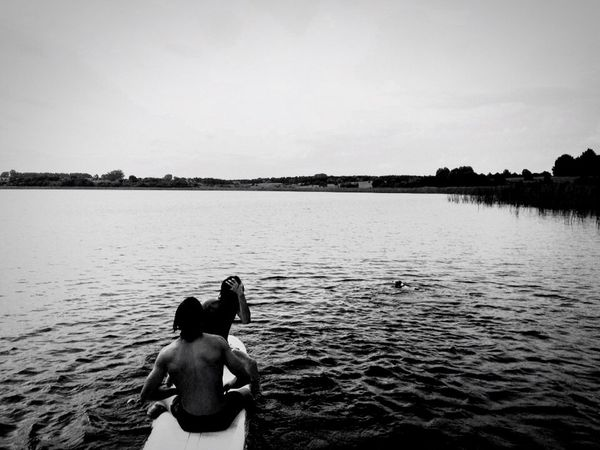 Monochrome Photography Lake Surf