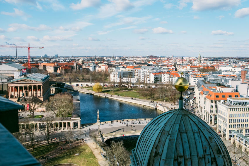 Berlin Dome  Berliner Dom Hackescher Markt Tourists Arch Bridge Architecture Bridge Bridge - Man Made Structure Building Building Exterior Built Structure City Cityscape Cloud - Sky Connection Day Dome High Angle View Nature Outdoors Residential District River Sky Transportation Water