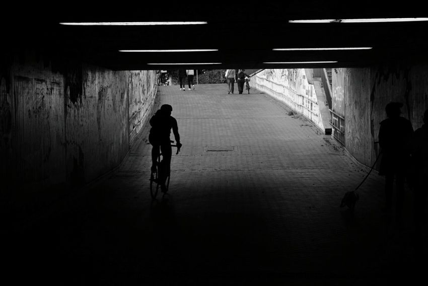The tunnel Silhouette Tunnel Walking Architecture Full Length Adult Built Structure People Indoors  Adults Only Men City Only Men Day Street Photography Streetphoto_bw Streetphotography Blackandwhite Photography Black And White Black & White Blackandwhite