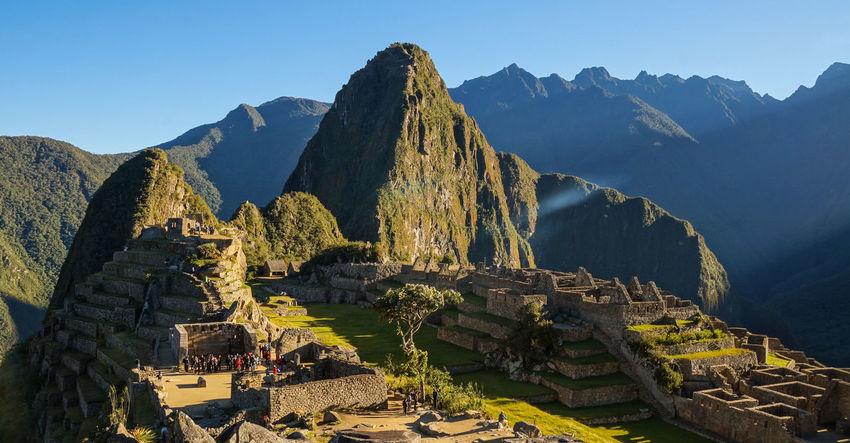 Sunrise at Machu Picchu, Peru. Ancient Inca Machu Picchu Machu Picchu - Peru MachuPicchu Nature Peru Peru Traveling Travel Cuzco Mountain Peak Peruvian South America Sunrise Travel Destinations