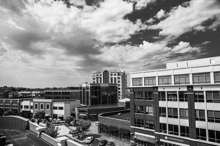 City center pt. 3 Architecture Built Structure City Cityscape Sky Cloud - Sky Cloud Cloudy Outdoors City Black & White Blackandwhite Photography Architecture