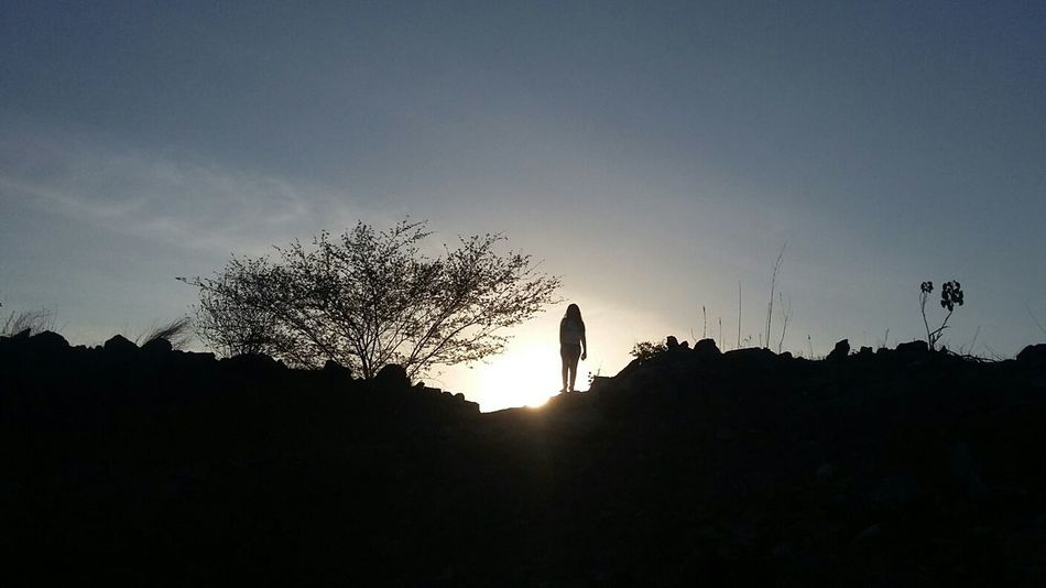 Silhouette People Sunset One Person Adult Low Angle View Sky