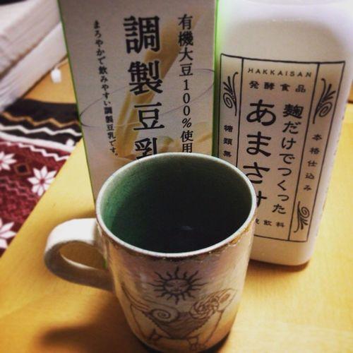 アマザケ Amazake 甘酒 八海山 Hakkaisan 麹だけでつくったあまさけ 豆乳割り