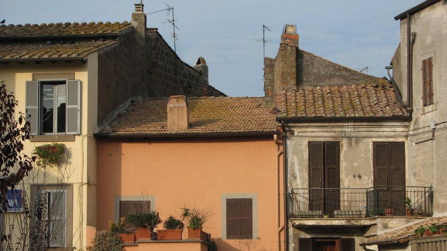 Architecture Building Exterior Earth Tones Historic Italy North Of Rome Vetralla Village Place Of Heart