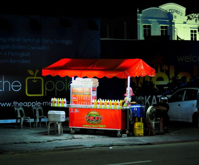 Stall Burger Malacca Town Nizam_chilly Red Built Structure Architecture Outdoors Building Exterior City No People