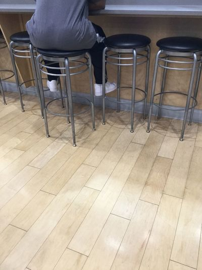 Stool Coffee Shop Wait Chair Indoors  One Person Sitting Seat Real People People