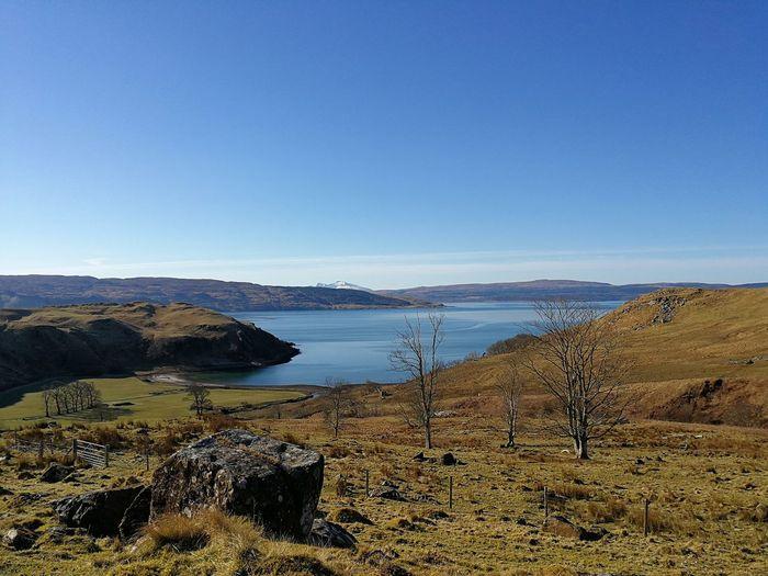 Ardnamurchan Bay Of Pledges Loch Sunart Scotland Bay Copy Space Landscape Mountain Sky Tranquil Scene Water
