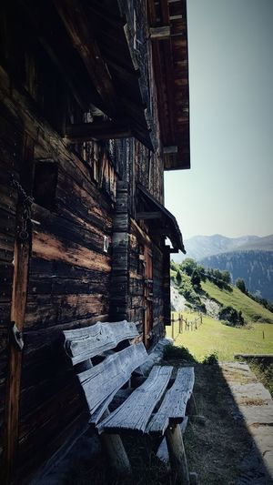 Love the old Swiss-Chalets Chalet Old Wooden House Swiss Alps Surselva Architecture Historic Hut