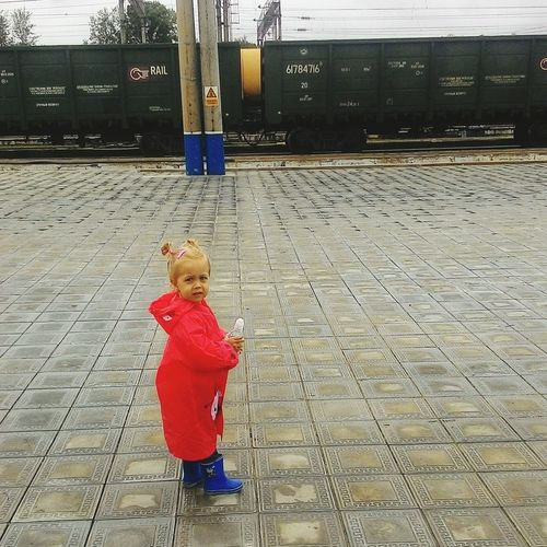 Юная железнодорожница First Eyeem Photo