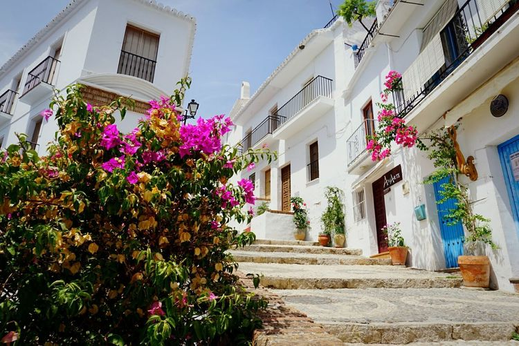 Frigiliana Málaga,España Malaga Pink Color Pink Flowers Beautiful Sky Blue Sky House White White Color No People España🇪🇸 Cute Houses Summer Vacations South Hot Day Sunny Day Cultures Tourism