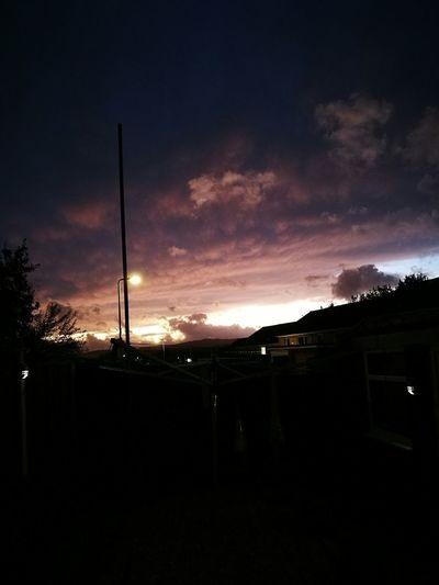 Illuminated sky at night