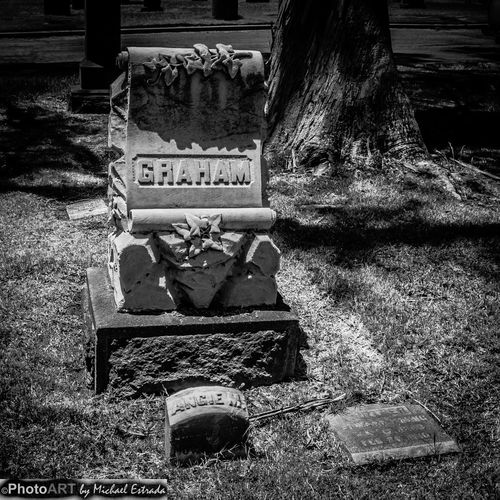 Peaceful Graham - An interesting headstone that caught my attention. Trying to give it a feel from yesteryear. Cemetery Gravestone Graveyard Rest In Peace Series
