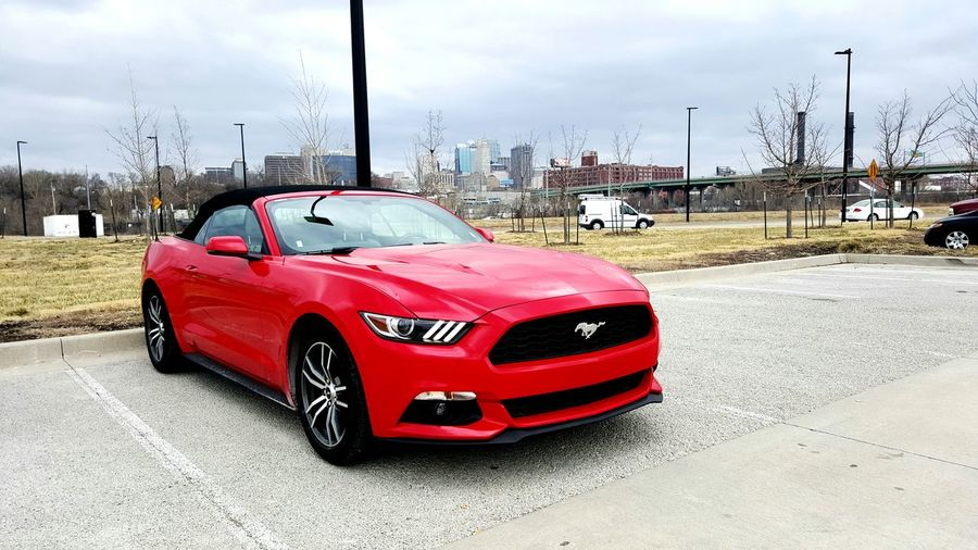 Car Transportation No People Wet Cloud - Sky Sky Outdoors Day Ford Mustang Ford Fordmustang Performance Kansas City Missouri