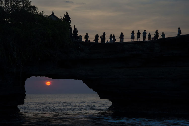Amazing View Bali Ocean View Ancient Beauty In Nature Beutifulview Building Exterior Built Structure Cave Day Nature Ocean Outdoors Scenics Sea Silhouette Sky Spirituality Sun Sunset Temple Tourism Travel Destinations Water