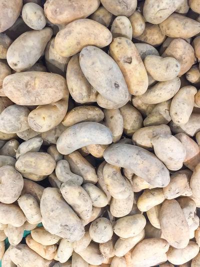 Full frame shot of pebbles for sale at market