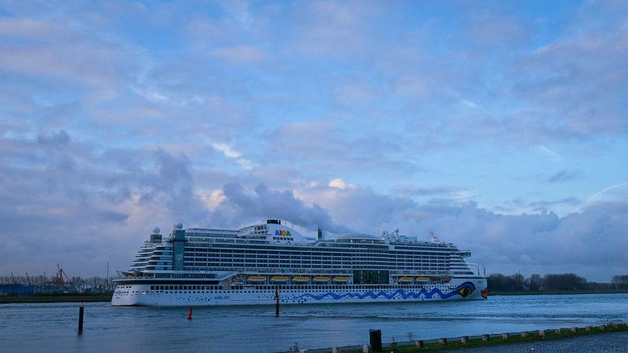 Nautical Vessel Outdoors Cloud - Sky Nature No People Sky Water Day Aida Aidacruises AIDAprima