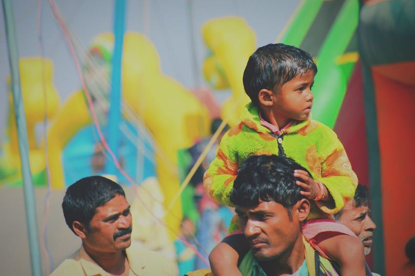 Village mela #rurallife #market Child Multi Colored People Happiness Real People Smiling Group Of People Portrait Lifestyles