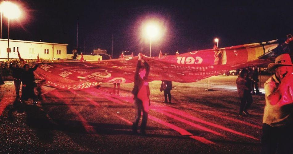 Red night Politic CGL Left Ideologie Political Party Event EyeEm Selects Partigiani Italian Flag HUAWEI Photo Award: After Dark City Illuminated Sky Music Concert Entertainment Light Beam Concert