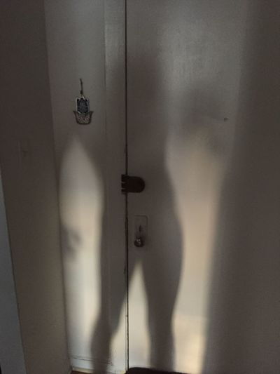 I took a Silhouette of my body today. The morning light was coming through my bathroom window pointing towards my front door so I snapped a shot. It turned out so amazing. Indoors  Man Made Object Silhouette Built Structure City Life Chicago Pspauly63