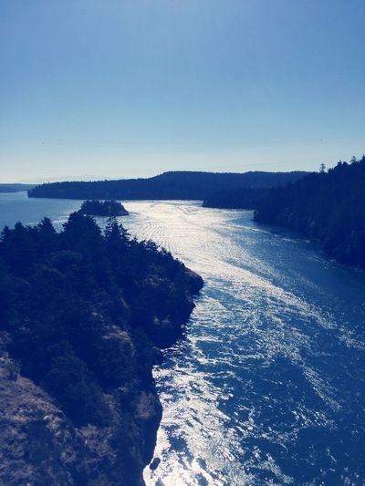 Washington Deception Pass Bridge Rocks And Minerals Water Reflections Water