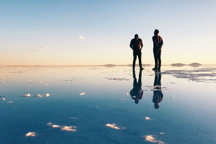 Reflections Sky Water Reflection Real People Leisure Activity Togetherness Lifestyles Beauty In Nature Nature Sunset Friendship Men Outdoors People Full Length Walking My Best Photo
