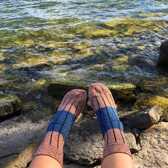 Socks and water Socks Socks Selfie Feet Cozy Socks Cozy Fall Time Beauty In Nature Sock Wool Riverside
