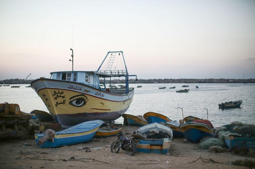 Blockade Boat Clear Sky Gaza Gaza-Palestine Israel Middle East Nautical Vessel Palestine War