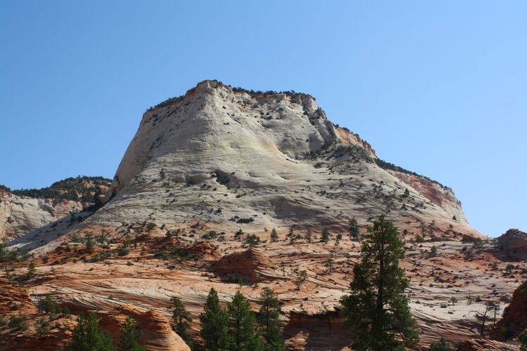 Eroded sandstone hill in canyon