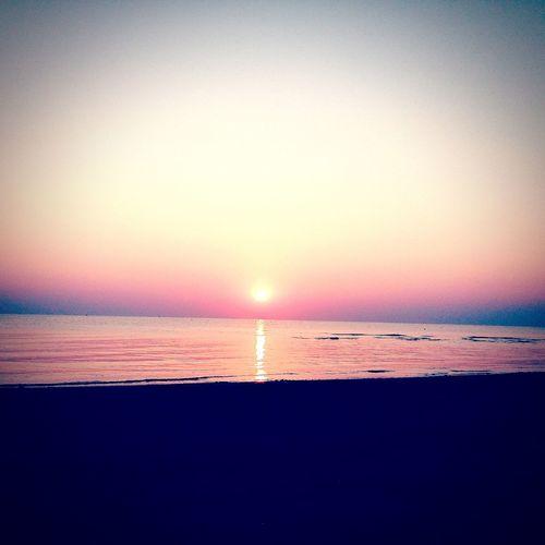 Sunrise Beach Sunrise Sunrise Colors Happyday Holiday♡ Withyou💜💛💚💙 Relaxing Sun Sea