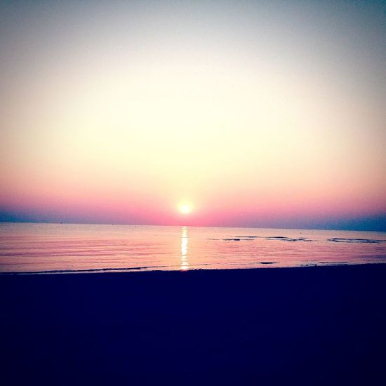 Sunrise Beach Sunrise Sunrise Colors Happyday Holiday♡ Withyou💜💛💚💙 Relaxing Sun Sea