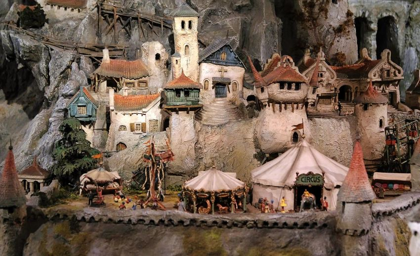 Attraction theme park the Efteling, Kaatsheuvel, the Netherlands Architecture Built Structure Building Building Exterior Residential District Day Religion Nature Roof Place Of Worship No People Town Travel Destinations House Spirituality High Angle View Belief Outdoors History Tree